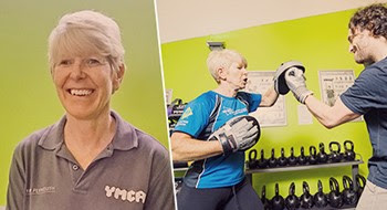 sue personal trainer at ymca plymouth gym